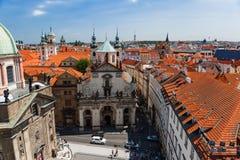 Trevlig sikt av Prague Praha från torn Royaltyfria Foton