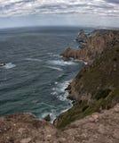Trevlig sikt av av udde Roca, Portugal Arkivbild
