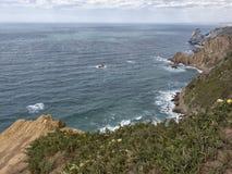 Trevlig sikt av av udde Roca, Portugal Royaltyfri Fotografi