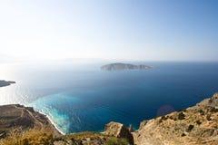 trevlig sikt för crete ö Arkivbild