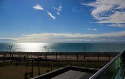 Trevlig sikt från balkongen Arkivfoton