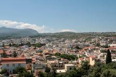 Trevlig sikt från Rethymno, Kreta, Grekland Fotografering för Bildbyråer