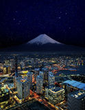 Trevlig sky över den yokohama staden royaltyfri bild