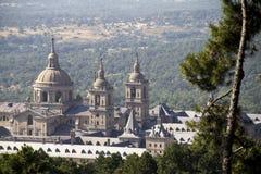 trevlig slottsikt för el escorial Arkivbild