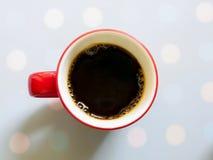 Trevlig smak av svart kaffe Arkivfoto