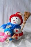 Trevlig snögubbe två Royaltyfri Fotografi