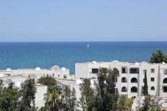 trevlig solig tunisia för dagel-haouaria sikt Arkivbilder