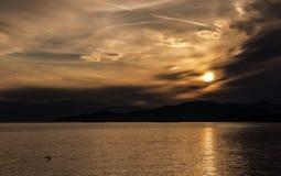 Trevlig solnedgång Royaltyfri Fotografi