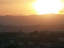 trevlig solnedgång Royaltyfri Bild