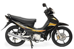 trevlig sparkcykel för motorcykel Arkivbilder