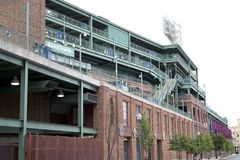 Trevlig stadion Fenway Park på Boston mass royaltyfri foto