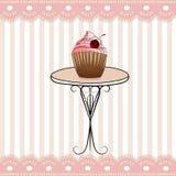 Trevlig tabell och roliga rosa färger avriven symbol Royaltyfria Bilder