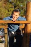 Trevlig tid på lekplats Royaltyfri Fotografi