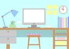 Trevlig workspace Arkivbild