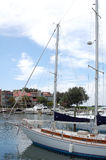 trevlig yacht arkivfoton