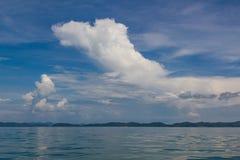 Trevliga öar av den Phang Nga fjärden nära Phuket, Thailand arkivbild