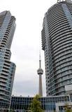 Trevliga byggnader i Toronto Arkivbilder