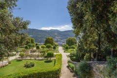 trevliga france Cimiez klosterträdgård - 19 arkivbilder