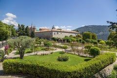 trevliga france Cimiez klosterträdgård - 17 arkivbild