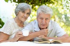 Trevliga gammalare par Arkivfoton
