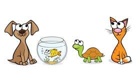 Trevliga husdjur royaltyfri illustrationer