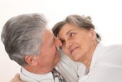 Trevliga par har gyckel tillsammans Arkivfoton