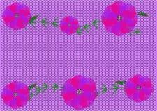 Trevliga röda blommor på bakgrunden av förtjänar Arkivfoton