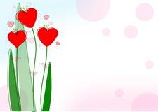 Trevliga röda hjärtor för valentindag Fotografering för Bildbyråer