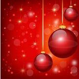 Trevliga röda julbollar Royaltyfri Fotografi