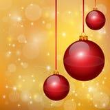 Trevliga röda julbollar Royaltyfri Bild