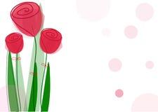 Trevliga röda rosor för ferier Royaltyfri Foto