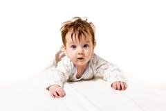 Trevliga små behandla som ett barn krypning Royaltyfri Fotografi