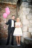 Trevliga unga brölloppar Fotografering för Bildbyråer