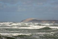 trevliga waves Fotografering för Bildbyråer