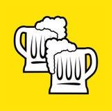 Trevligt ölsymbol stock illustrationer