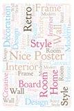 Trevligt affischordmoln stock illustrationer