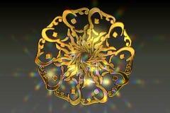 trevligt bönsymbol för guld- islamisk lensflare stock illustrationer