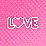 Trevligt förälskelsesymbol vektor illustrationer