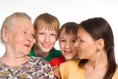 trevligt foto för familj arkivfoto