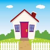 Trevligt hus royaltyfri illustrationer
