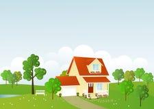 Trevligt hus vektor illustrationer