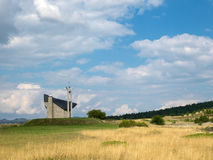 Trevligt katolskt kapell i Europa, kapell i natur Fotografering för Bildbyråer