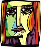 Trevligt kvinnahuvud från min dröm royaltyfri illustrationer