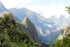 Trevligt landskap med berg i Peru Royaltyfri Fotografi