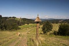 Trevligt landskap nära den Petranky bosättningen Royaltyfria Foton