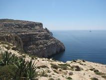 Trevligt landskap på kusten av malta Royaltyfri Fotografi