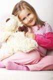 trevligt rosa barn för flicka royaltyfria bilder