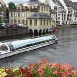Trevligt skepp på Straßburg Arkivbild