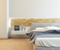 Trevligt sovrum Arkivfoton
