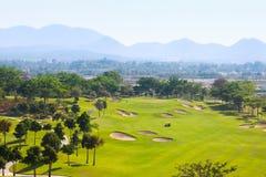 trevligt ställe för golf arkivfoto